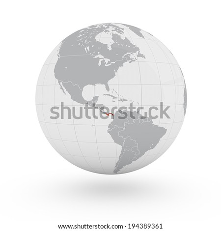 World Map Panama America