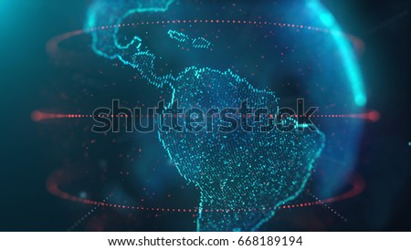 World map particle network future stock illustration 668189194 world map particle network future gumiabroncs Image collections