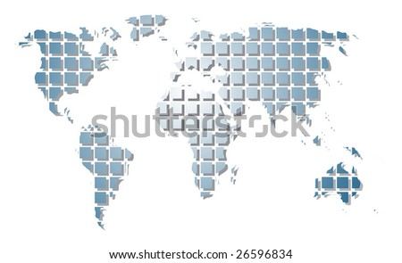 World map - rastered image. Vector format in EPS is also available in my gallery. - stock photo