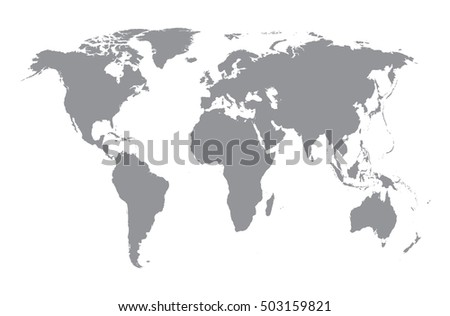 World map silhouette grey map on stock illustration 503159821 world map silhouette grey map on white background concept of travelling and worldwide business gumiabroncs Choice Image