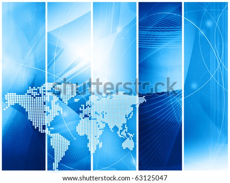 world map technology style with space for text or image - stock photo