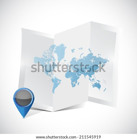 World travel map airplanes vectores en stock 435661399 shutterstock world map travel arrangements illustration design over a white background gumiabroncs Images