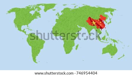 World map usa china stock photo 746954404 shutterstock world map usa and china gumiabroncs Gallery