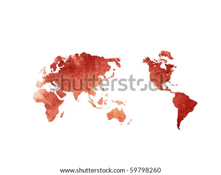 world map vintage artwork - perfect background - stock photo