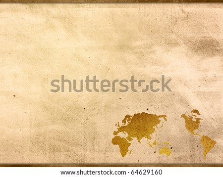 World map vintage artwork perfect background stock illustration world map vintage artwork perfect background with space for text or image gumiabroncs Gallery