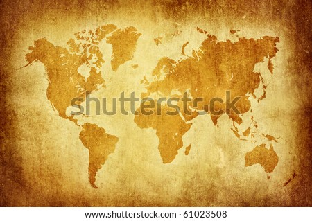 world map vintage pattern - stock photo