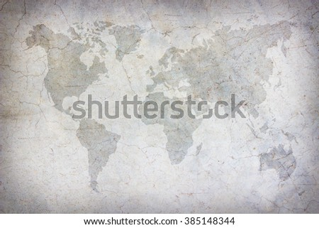 World map vintage patternart concrete texture stock photo image world map vintage patternart concrete texture for background in black grey and white gumiabroncs Images