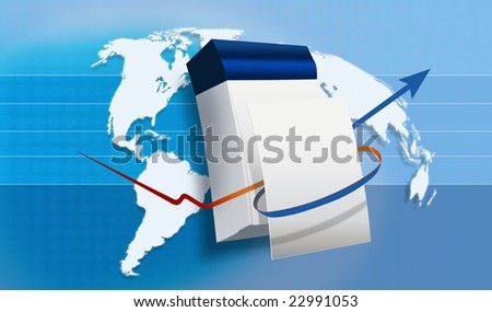 World map with a Calender - stock photo