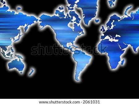 World map black background stock illustration 2061031 shutterstock world map with black background gumiabroncs Images