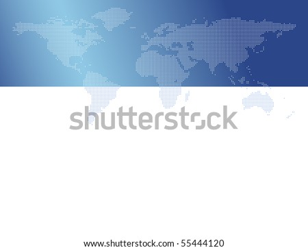 World map with dots - stock photo