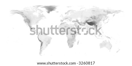 World map grayscale elevation on white stock illustration 3260817 world map with grayscale elevation on white background easy to change background and elevation color gumiabroncs Gallery