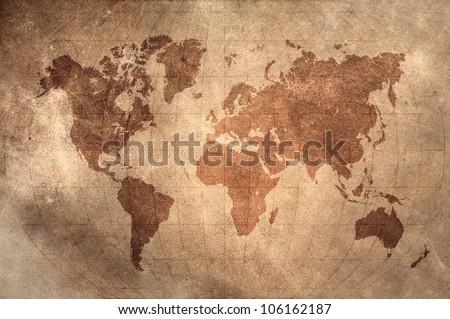 World Map Latitude Longitude Lines On Stock Illustration 106162187