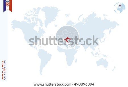 World map magnifying on croatia blue stock illustration 490896394 world map magnifying on croatia blue stock illustration 490896394 shutterstock gumiabroncs Image collections