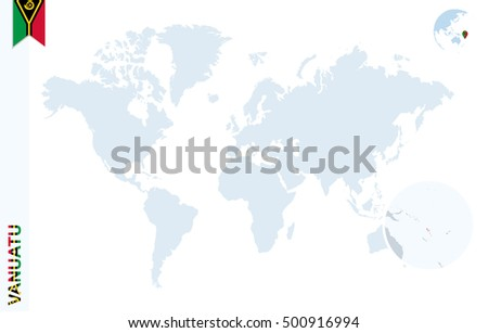 World map magnifying on vanuatu blue stock illustration 500916994 world map with magnifying on vanuatu blue earth globe with vanuatu flag pin zoom gumiabroncs Image collections