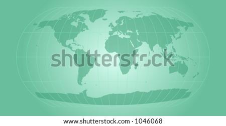 world map with retro feel - stock photo