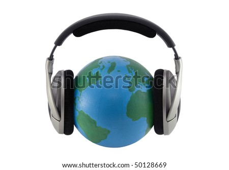 World music. Clipping path included.
