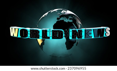 World news concept 3d rendering with clipping path