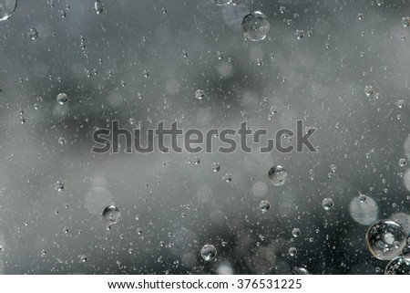 World of bubbles - stock photo