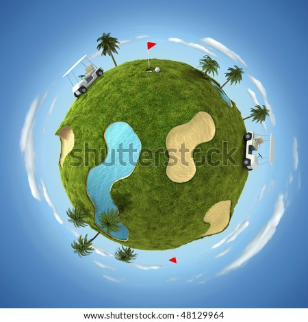 World of golf - stock photo