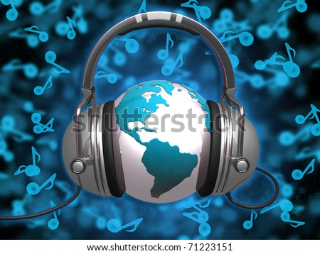 World Of Music - stock photo