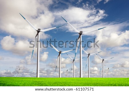 World of Wind Energy - stock photo