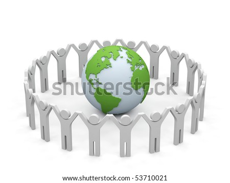 World partnership. 3d image isolated on white background. - stock photo