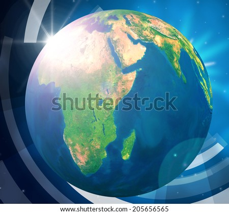 World Planets Meaning Solar System And Earth - stock photo