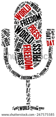 World press freedom day. Celebrated on 1st May. Word cloud illustration.