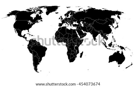 World simple map on white background stock illustration 454073674 world simple map on white background gumiabroncs Gallery