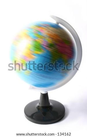 world spinning - stock photo