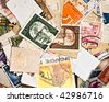 World stamps; communication/mail background theme - stock photo