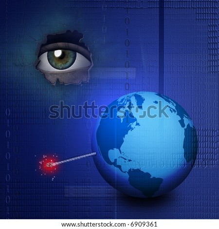 World Tech Explosion - stock photo
