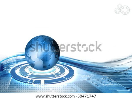 World Technology abstract background - stock photo