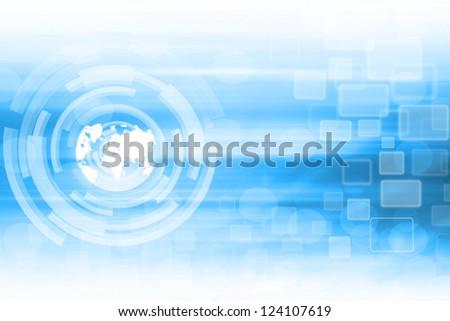 World Technology Background - stock photo