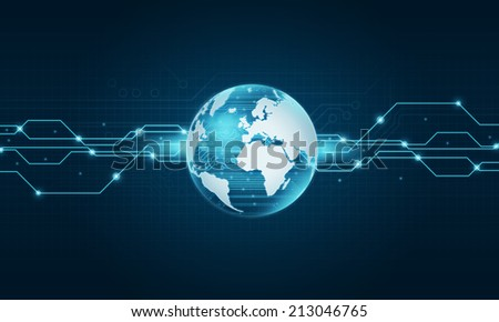 World technology internet connection background