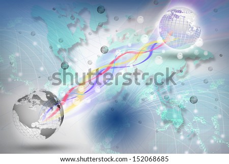 world telecommunication in digital period use for multipurpose - stock photo