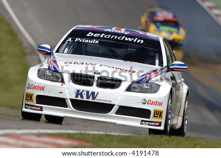 world touring car champion driver andy priaulx - stock photo