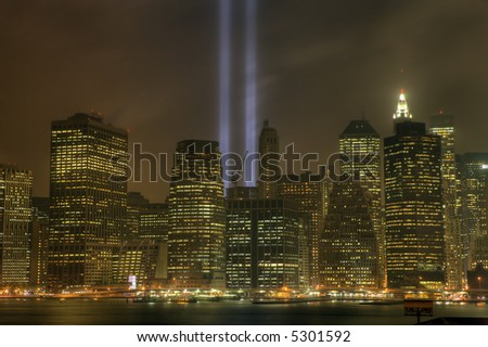 World trade center  - Manhattan, from brooklyn , new york