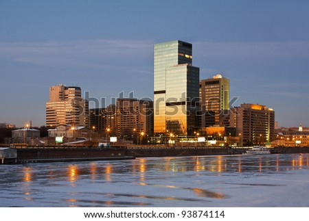 World Trade Center on the Moscow river, Russia - stock photo