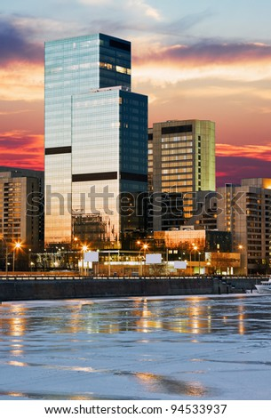 World Trade Center on the Moscow river, Russia