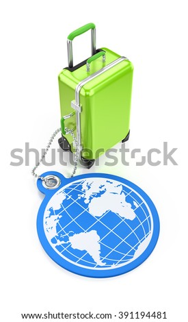 World Travel. Illustration on the subject of Travel and Tourism. 3D rendered graphics on white background.