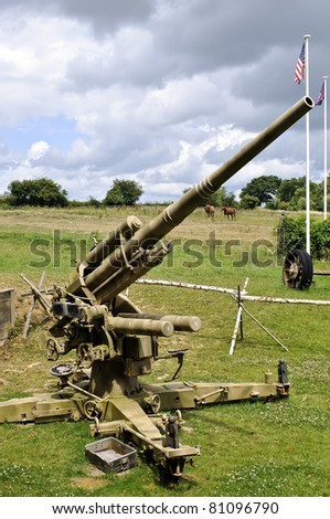 world war 2 canon near dead men's corner museum in normandy france