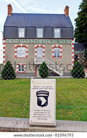 world war 2 dead men's corner museum in normandy france