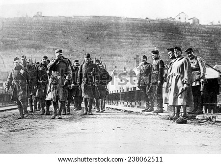 WORLD WAR I: Americans march into Germany Undated photo - stock photo