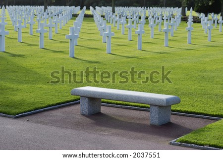 World War II Cemetery - stock photo