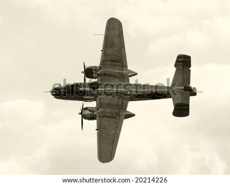 World War II era American bomber - stock photo
