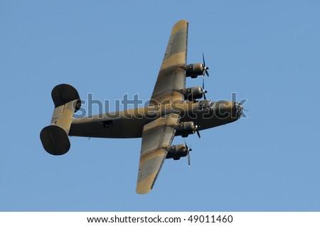 World War II era heavy American bomber - stock photo