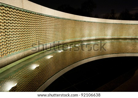 World War II Memorial at Night - stock photo