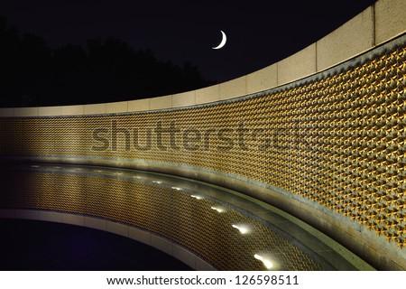 World War II Memorial in the National Mall, Washington DC - stock photo