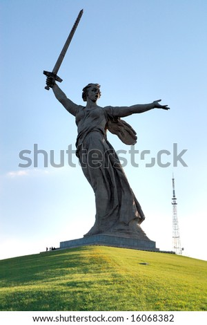 World War II Memorial in Volgograd Russia - stock photo